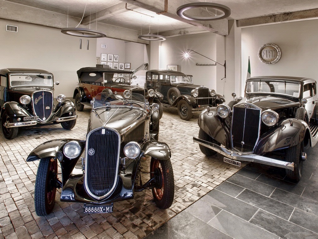 Private collection of vintage car